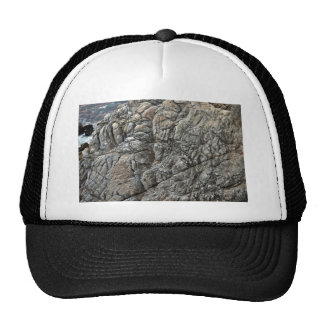 Close-up of Seamless Rock Texture Mesh Hat