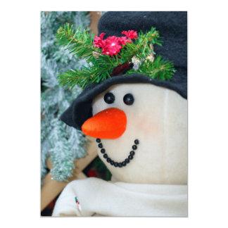 Close-Up of Snowman Card