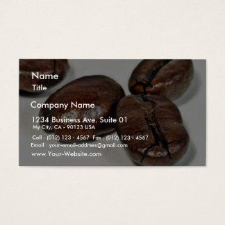 Close Up Of Some Unground Coffee Beans Business Card