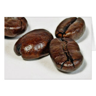 Close Up Of Some Unground Coffee Beans Greeting Card
