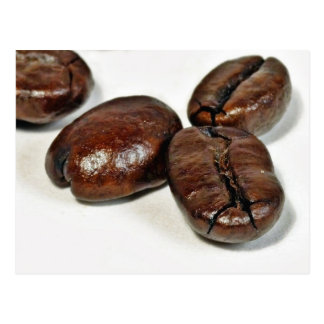 Close Up Of Some Unground Coffee Beans Postcard