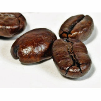 Close Up Of Some Unground Coffee Beans Standing Photo Sculpture