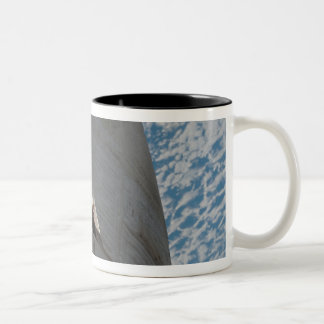 Close-up of Space Shuttle Atlantis Two-Tone Coffee Mug