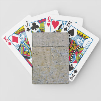 Close Up Of Stone Brick Wall Texture Bicycle Playing Cards