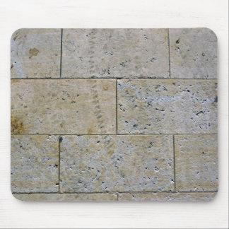 Close Up Of Stone Brick Wall Texture Mousepad