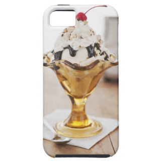 Close up of sundae with cherry on top iPhone SE/5/5s case