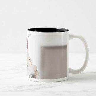 Close up of sundae with cherry on top Two-Tone coffee mug