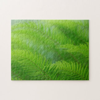 Close-up of sword fern jigsaw puzzle