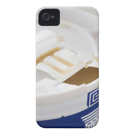 Close up of take out coffee iPhone 4 cover