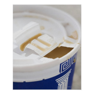 Close up of take out coffee poster