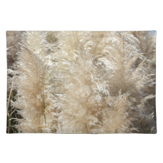 Close-Up of Tall Pampas Grass Plumes Cloth Placemat
