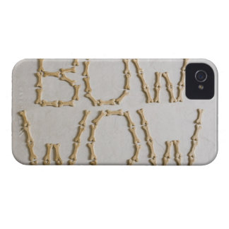 Close-up of texts BOW WOW made with dog biscuits iPhone 4 Case-Mate Case