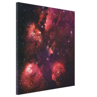 Close Up of the Cat's Paw Nebula NGC 6334 Gum 64 Canvas Print