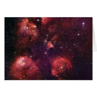 Close Up of the Cat's Paw Nebula NGC 6334 Gum 64 Card