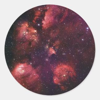 Close Up of the Cat's Paw Nebula NGC 6334 Gum 64 Classic Round Sticker