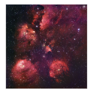 Close Up of the Cat's Paw Nebula NGC 6334 Gum 64 Photograph