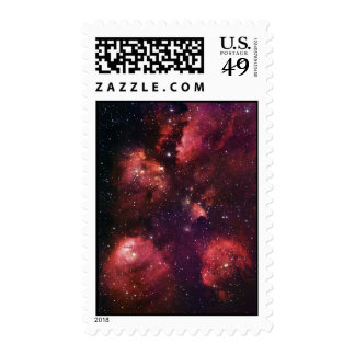 Close Up of the Cat's Paw Nebula NGC 6334 Gum 64 Postage Stamp