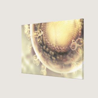 Close up of the structure of an HIV cell Canvas Print