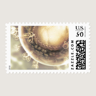 Close up of the structure of an HIV cell Postage