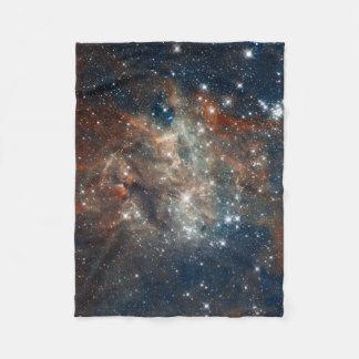 Close-up of the Tarantula Nebula Fleece Blanket
