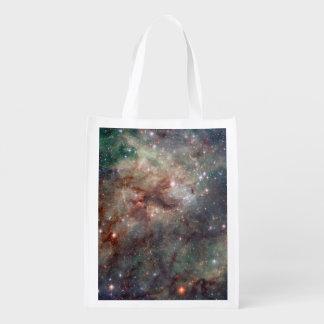 Close-up of the Tarantula Nebula Grocery Bag