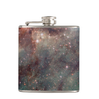 Close-up of the Tarantula Nebula Hip Flask