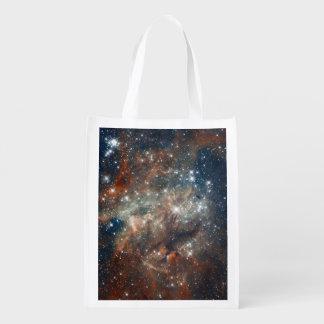 Close-up of the Tarantula Nebula Reusable Grocery Bag