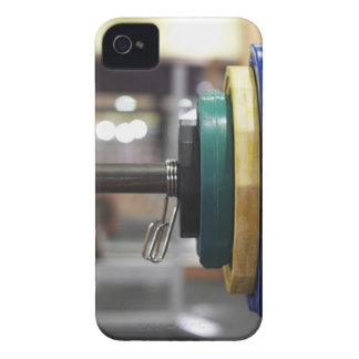 Close-up of the weights on a barbell iPhone 4 Case-Mate cases