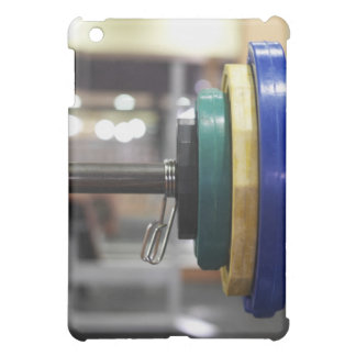 Close-up of the weights on a barbell iPad mini cover