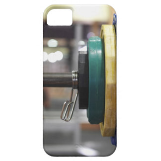 Close-up of the weights on a barbell iPhone SE/5/5s case