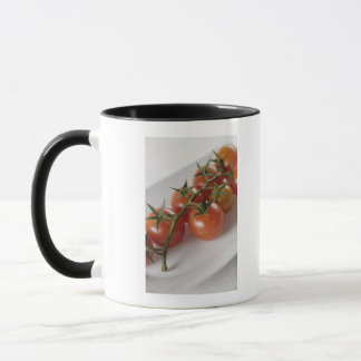 Close-up of tomatoes on a tray mug