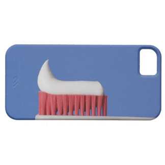 Close-up of toothpaste on a toothbrush iPhone 5 covers