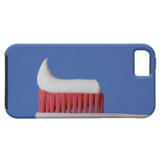 Close-up of toothpaste on a toothbrush iPhone 5 cases