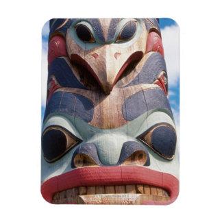 Close-up of totem pole in Sitka, Alaska, USA Rectangular Photo Magnet