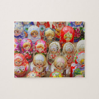 Close-up of traditional Russian nested dolls Jigsaw Puzzle