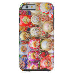 Close-up of traditional Russian nested dolls Tough iPhone 6 Case