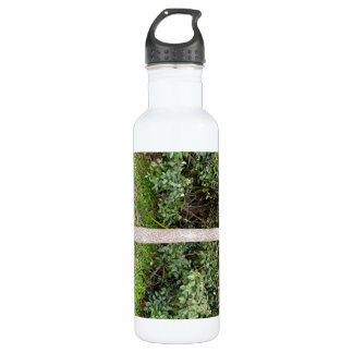 Close up of tree bark in garden water bottle