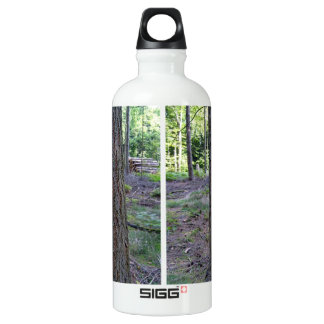 Close up of Tree Trunk in forest Aluminum Water Bottle