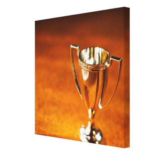 Close-up of trophy canvas print