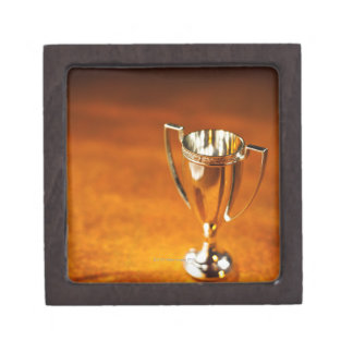 Close-up of trophy gift box