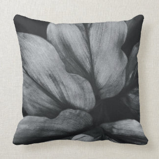 Close-up of tropical plant throw pillow