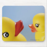 Close-up of two rubber ducks mousepad