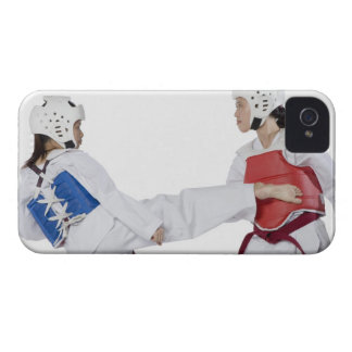 Close-up of two young women practicing Case-Mate iPhone 4 case