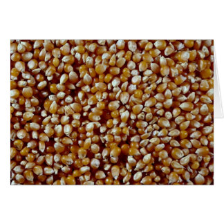 Close-up of unpopped popcorn kernels texture greeting card