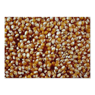Close-up of unpopped popcorn kernels texture 5x7 paper invitation card