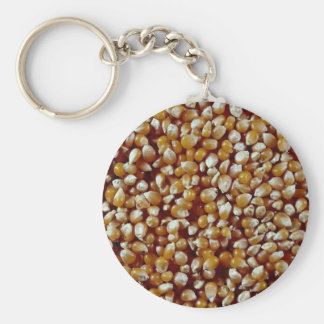 Close-up of unpopped popcorn kernels texture key chains