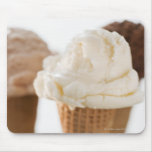 Close up of various ice cream cones mouse pad