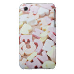 Close up of vibrant candy alphabet iPhone 3 cases