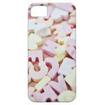 Close up of vibrant candy alphabet iPhone SE/5/5s case