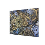 Close up of Vietnamese coins Canvas Print